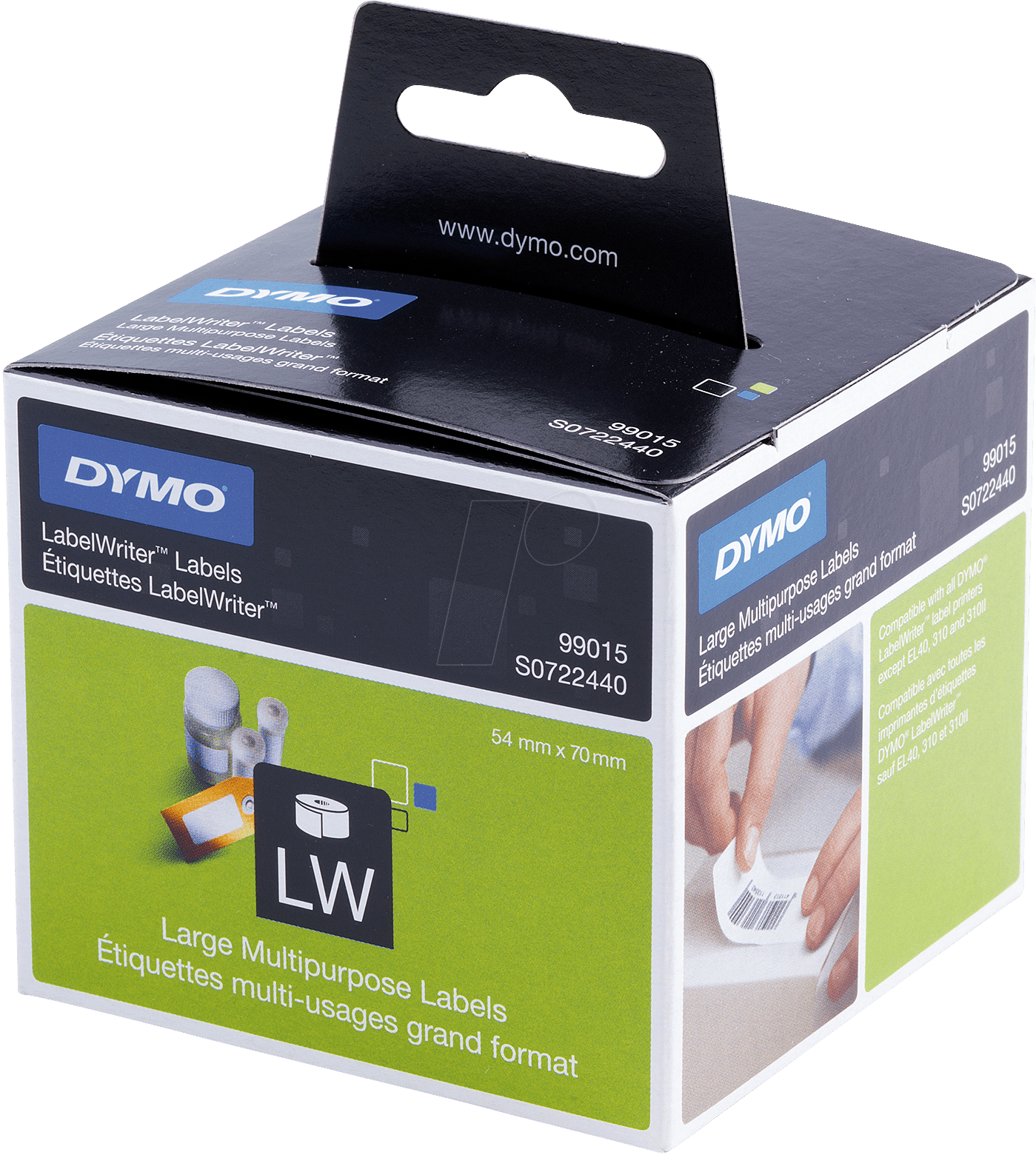 Dymo lw 99015 dymo labels for labelwriter 56 x 70 mm at for Dymo labelwriter 400 labels