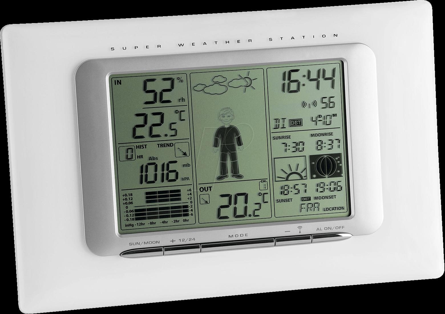 ws 1066 meteo max wireless weather station at reichelt. Black Bedroom Furniture Sets. Home Design Ideas