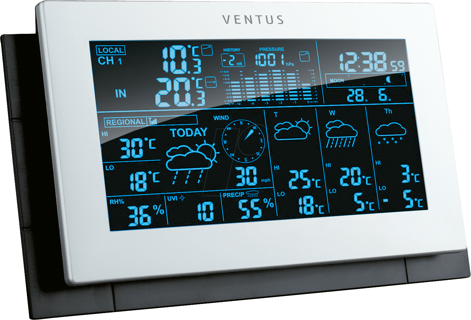 ventus w194 funk wetterstation bei reichelt elektronik. Black Bedroom Furniture Sets. Home Design Ideas