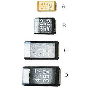 MajorBrand SMD TAN.2,2/20 - SMD-Tantal-Kondensator, 2,2µF/20V