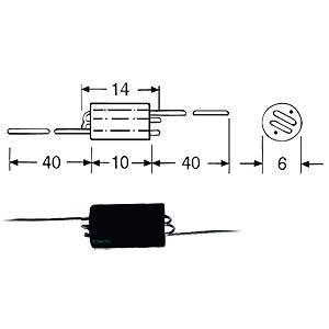 FASTRON 06H-75 - Breitbanddrosselspule 0,75kOhm 06H-751-X-00
