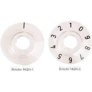 MENTOR SCHEIBE 14-1 - Zahlenscheibe für KNOPF 14... 331.201