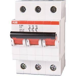 abb e203 63r hauptschalter 3 polig bei reichelt elektronik. Black Bedroom Furniture Sets. Home Design Ideas