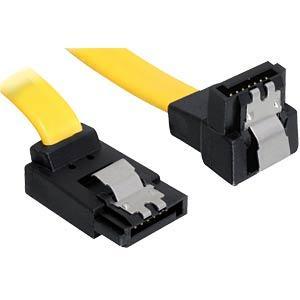 DELOCK 82819 - Delock Kabel SATA 6 Gb/s oben/unten Metall 20 cm