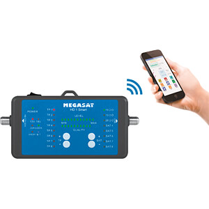 Bank 3 Meter.Megasat 2600019 Level Meter Satellite Measurement Device With Power Bank