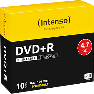 DVD+R4,7 INT10P - Intenso DVD+R 4,7GB, SlimCase, printable 4811642